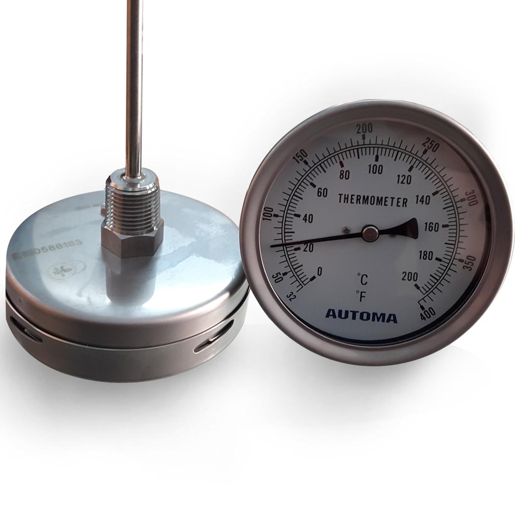đồng hồ đo nhiệt độ inox mặt tròn