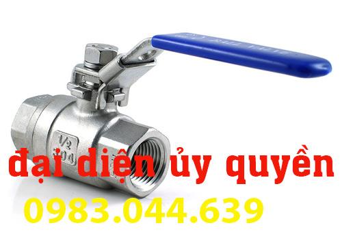 van nước inox tay gạt 304 316 2 mảnh